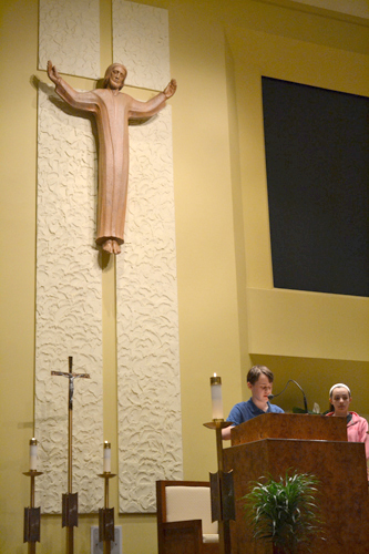 A pair of student witnesses also addressed the prayer service.