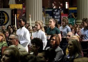 Students at Catholic Schools Mass