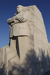 SCULPTURE OF REV. MARTIN LUTHER KING JR. SEEN AT WASHINGTON MEMORIAL