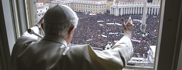 Pope Benedict XVI leads his last Angelus as pope at Vatican