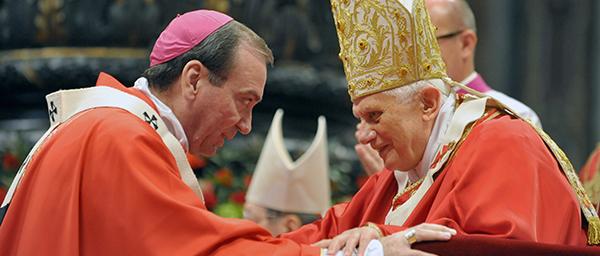 U.S. ARCHBISHOP SCHNURR RECEIVES PALLIUM FROM POPE BENEDICT XVI