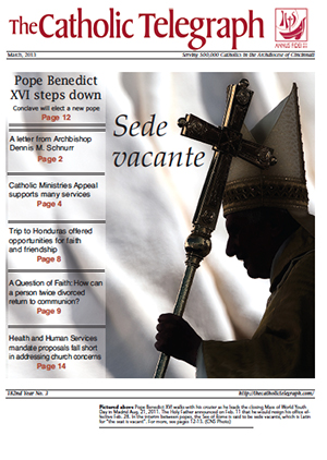 March cover of The Catholic Telegraph