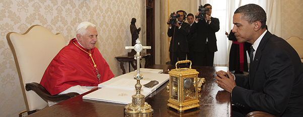 POPE TALKS WITH U.S. PRESIDENT AT VATICAN