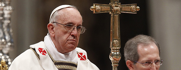Pope Francis celebrates Holy Thursday chrism Mass at Vatican