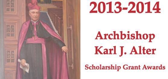 Archbishop Karl Alter scholarship