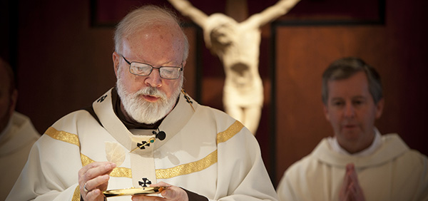 CARDINAL O'MALLEY CELEBRATES MASS AT BOSTON PASTORAL CENTER