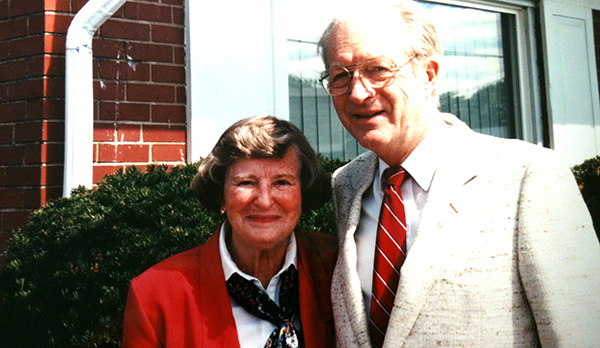 Barbara Willke is pictured with her husband Dr. John Willke in September 1995. Barbara Willke died Sunday night at the age of 90. (CT PHOTO)