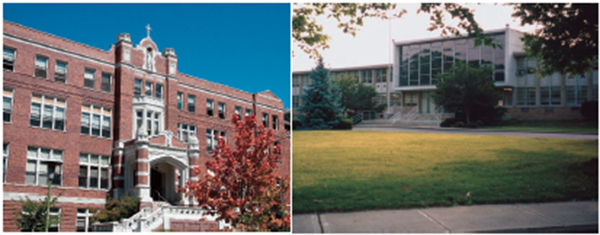 Mercy High School, left, and McAuley High School will Beginning in fall 2018, Cincinnati's young women