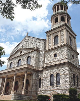 The exterior of St. Boniface Church. (CT Photo/E.L. Hubbard)