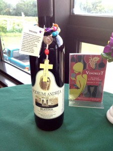 """Vinkolet Winery's special wines of Medjugorje and a """"miracle"""" rosary. (CT Photo/Steve Trosley)"""