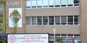 La Salle High School has announced that it will conduct mandatory drug testing for all students beginning with the 2014-15 school year. (CT Photo/John Stegeman)