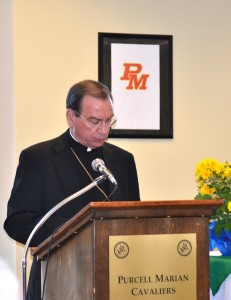 Archbishop Dennis M. Schnurr formally blessed the James J. Gardner Learning Center at Purcell Marian High School on Monday, November 18. (Courtesy Photo)