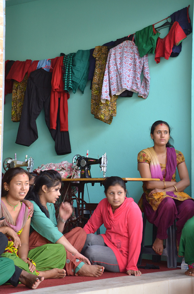Students of the Maryknoll Sewing Training Program live and learn in the same building for 9 months as they prepare to become seamstresses. (CT Photo/Megan Walsh)