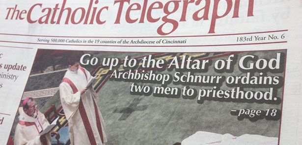 The June print edition of The Catholic Telegraph is hot off the press and should be arriving in mailboxes around May 28. (CT Photo/John Stegeman)