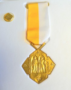 The Pro Ecclesia et Pontifice medal was awarded to Sister of Mercy Helen Lucille Habig by Pope Francis. (CT Photo/John Stegeman)