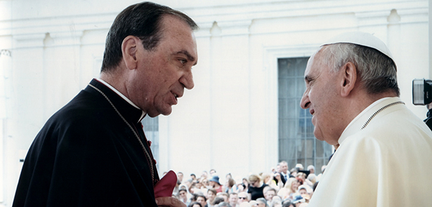 Pope Francis and Archbishop Schnurr