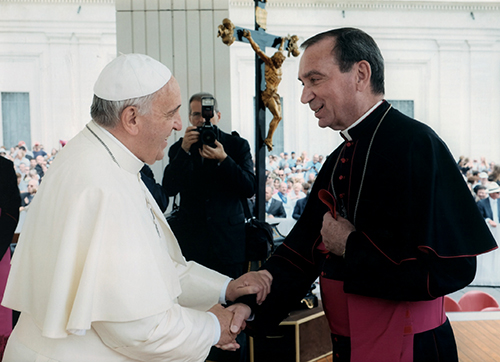 Pope Francis and Archbishop Schnurr 2