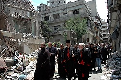 File photo of Patriarch Younan in Syria