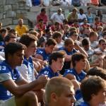 Players were provided a prayer card and a black, heavy-duty rosary. (CT Photo/John Stegeman)