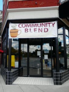 Located at 3546 Montgomery Road in Evanston, Community Blend offers customers good coffee and conversation. (CT Photo/Eileen Connelly, OSU)