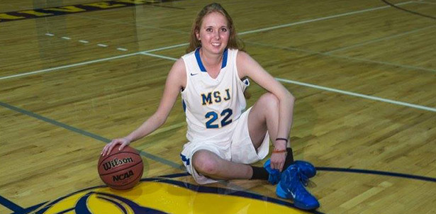 Lauren Hill is a freshman member of Mount St. Joseph University's women's basketball team. She is dying of Diffuse Intrinsic Pontine Glioma and hopes to play in a collegiate game during the time she has left. (Courtesy Photo/The Cure Starts Now Foundation)