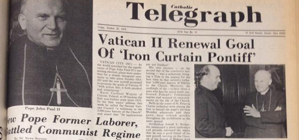 The election of John Paul II to the papacy on this date in 1978 was a historic moment for the church. (CT File)