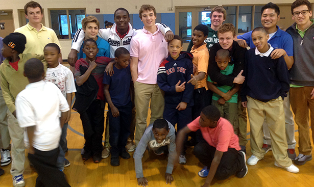 One of the St. Xavier Big Buddies teams is pictured with their little buddies at the Boys & Girls Club in Avondale. (Photo Courtesy of 4C for Children)