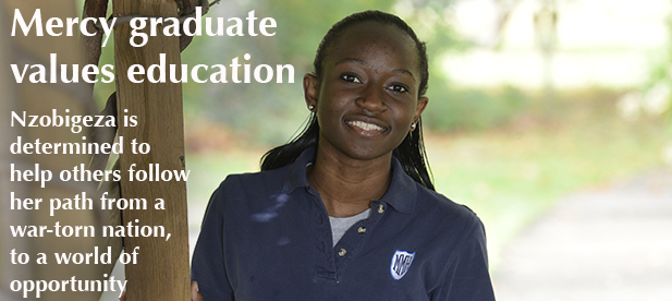 Nancy Nzobigeza is grateful for the educational opportunities she's had. (Courtesy Photo)