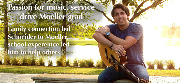Matt Schneider, a senior at Moeller, shares his passion for music and service with others.  (Courtesy Photo)