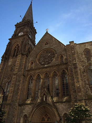 The exterior of St. Joseph's Cathedral in Buffalo, New York. (CT Photo/John Stegeman)