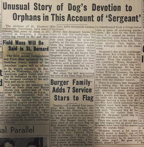 The full article on Sergeant from the June 22, 1945 edition. (CT File)