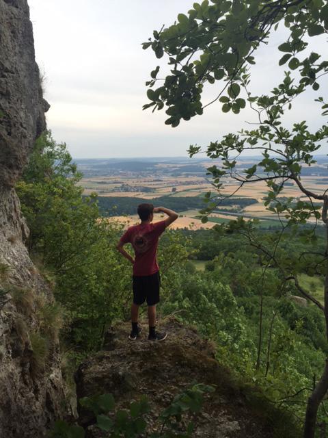 Moeller High School student Riley Jones takes in the countryside view in Kulmback, Germany. (Courtesy Photo/Moeller High School)