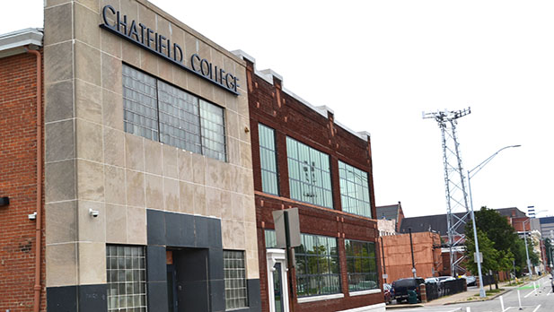 The new Cincinnati campus of Chatfield College will include a sacred space. The campus is located on Central Parkway just north of downtown Cincinnati. (CT Photo/John Stegeman)