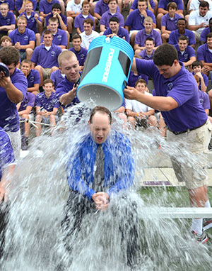 Superintendent of Catholic Schools Jim Rigg gained national attention last summer when he participated in the ALS Ice Bucket Challenge, donating to the John Paul II Medical Research Center. (CT Photo/John Stegeman)