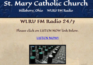 A screen capture shows the link where web users can listen live to WLRU. (Screen shot)