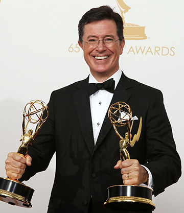 """Stephen Colbert, who took over Sept. 8 as host of CBS' """"Late Night"""" program, said in an interview for Canada's Salt and Light Television that his """"Colbert Report"""" character was intended to be a """"well-≠intentioned, poorly informed, high≠status idiot."""" Colbert is pictured in a 2013 photo. (CNS photo/Lucy Nicholson, Reuters)"""