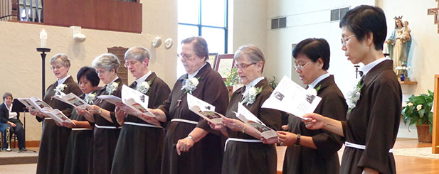 The Poor Clare Sisters of Cincinnati are pictured during their 25th jubilee celebration. (Courtesy Photo)