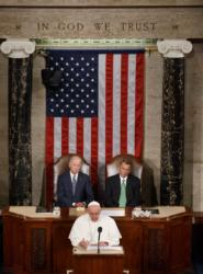 Pope Francis addresses a joint meeting of Congress at the U.S. Capitol in  Washington Sept. 24. (CNS photo/Paul Haring)