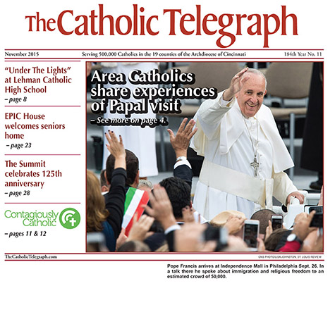 The November 2015 print edition of The Catholic Telegraph.