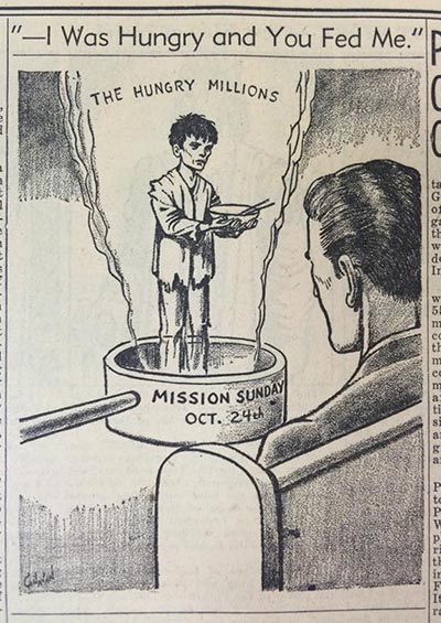 This editorial cartoon appeared in the Oct. 22, 1954 edition of The Catholic Telegraph-Register. (CT File)