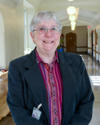 Mercy Sister Elizabeth Linehan, a professor of philosophy at Jesuit-run St. Joseph's University in Philadelphia, is pictured in an undated photo. Sister Elizabeth teaches a course at Curran-Fromhold Correctional Facility in Philadelphia, where Pope Francis visited Sept. 27. (CNS photo/courtesy St. Joseph's University)