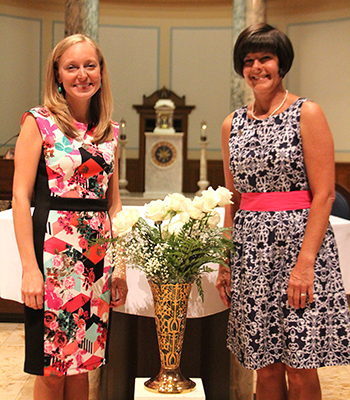Sisters Tracy Kemme and Andrea Koverman professed first vows with the Sisters of Charity of Cincinnati during a ceremony June 27 in the Immaculate Conception Chapel at the Mount St. Joseph motherhouse. (Courtesy Photo)