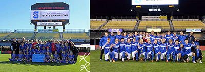 The Summit Country Day school boys and girls soccer team won their respective state championships. (Courtesy photos/Boys by Joe Smallwood, girls by Karen Kinross)