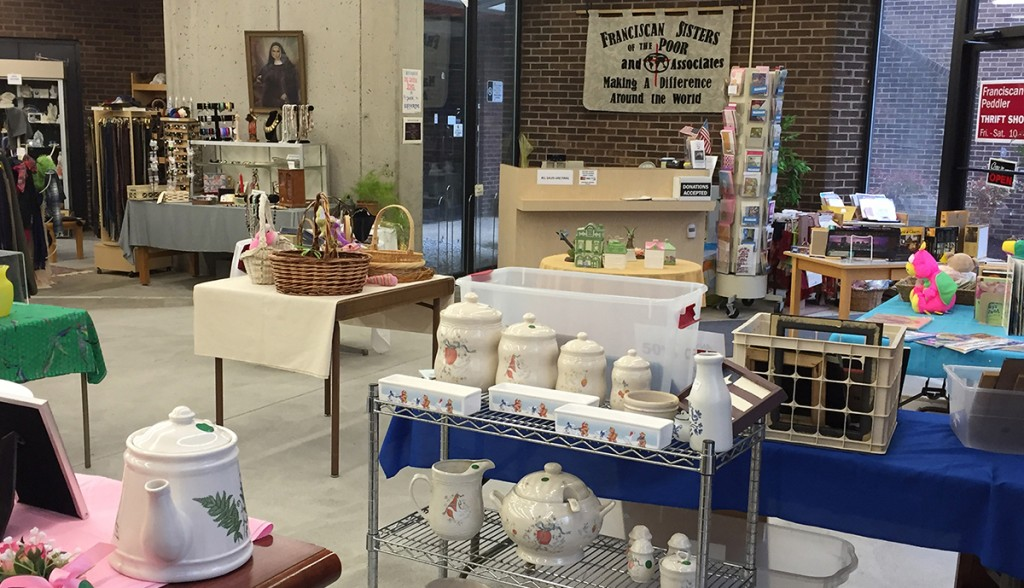 An interior view of the Franciscan Peddler thrift store. (Courtesy Photo)