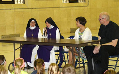 Guest speakers visited Our Lady of Lourdes Catholic School recently to talk to students about vocations. (Courtesy Photo)