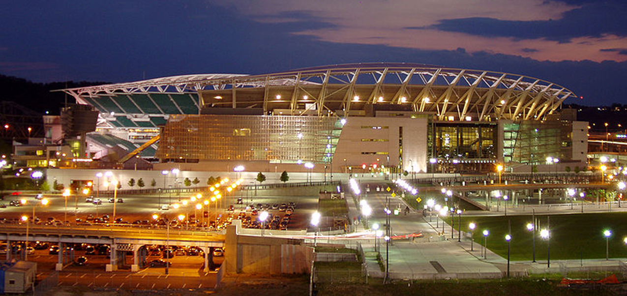 Paul Brown Stadium, home of the Cincinnati Bengals. (Public domain photo/Derek Jensen)