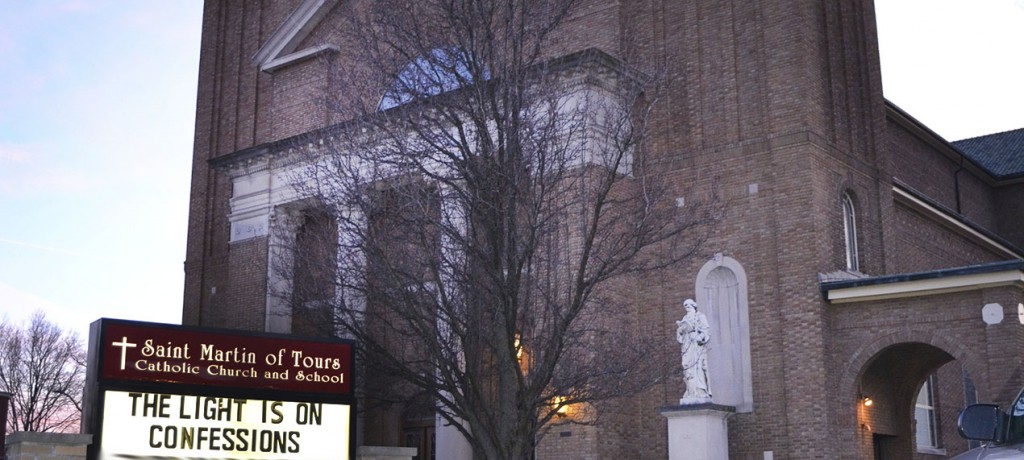 St. Martin of Tours in Cheviot is one of 200-plus parishes in the Archdiocese of Cincinnati participating in the 2016 Light is ON For You confession experience. (CT Photo/John Stegeman)