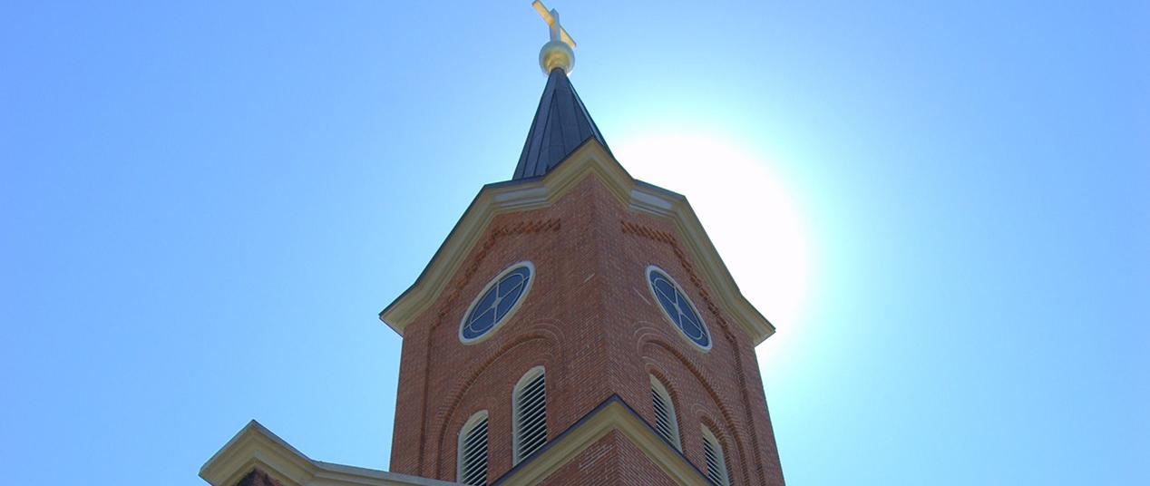 The steeple of St. Michael Catholic Church in Ripley, Ohio. (Courtesy Photo)