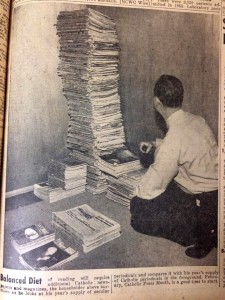 For most people, their secular reading stack is the tall one. Consider adding The Catholic Telegraph's monthly print edition to your stack today. (CT File)