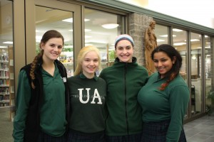 Kiran Desai '17 of West Chester, Sophia Jacobs '17 of Hyde Park, Katie MacVittie '17 of Montgomery, and Kate Thompson '17 of Maineville. (Courtesy Photo)